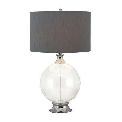 Chrome kenroy home table lamps lamps the home depot glass table lamp mozeypictures Image collections