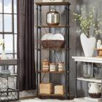 HomeSullivan Grove Place Distressed Cocoa Open Bookcase