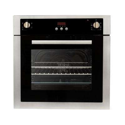 24 in. 2 cu. ft. Single Electric Wall Oven with 5 Functions and True European Convection in Stainless Steel