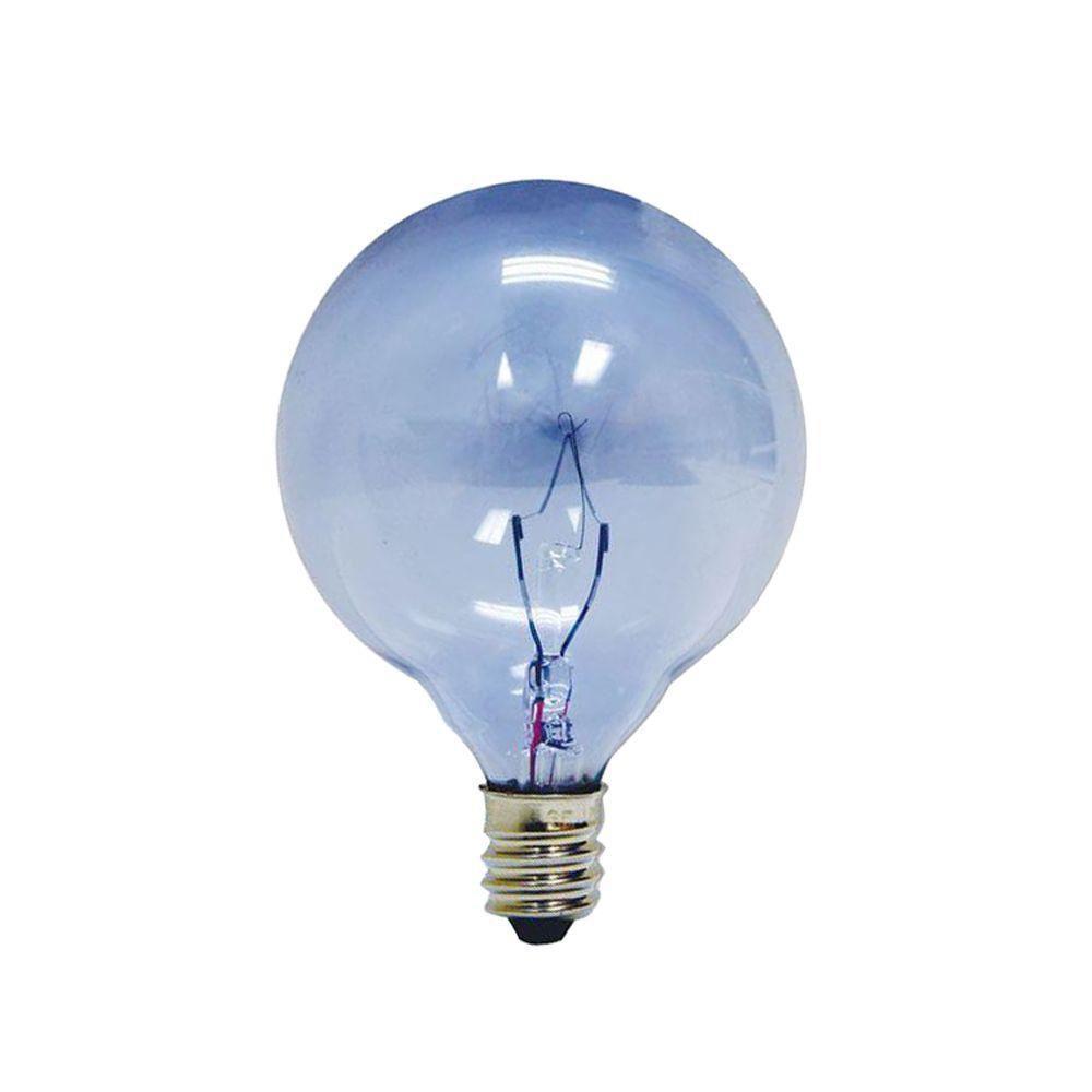 GE Reveal 25-Watt Incandescent G16.5 Globe Candelabra Base Reveal Light Bulb (2-Pack)