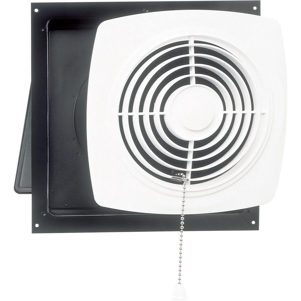 470 CFM Wall Chain-Operated Exhaust Bath Fan