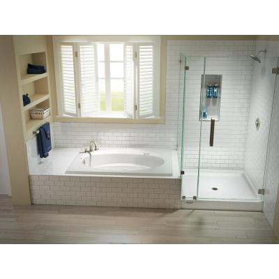 Jacuzzi 48 In X 48 In Center Drain 6 In Shower Base In White Cay4848scxxxxw The Home Depot