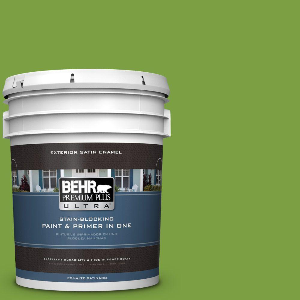 BEHR Premium Plus Ultra 5-gal. #420B-7 Pepper Grass Satin Enamel Exterior Paint