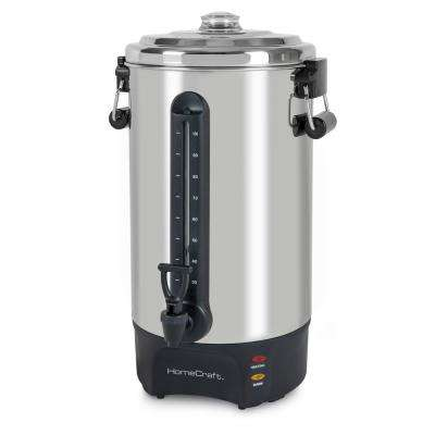 100-Cup Stainless Steel Coffee Urn with 2-Spigots