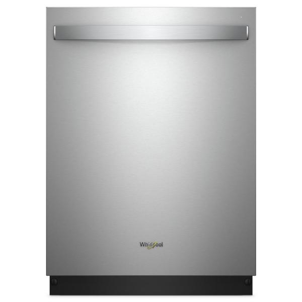 Whirlpool Top Control Built-In Tall Tub Dishwasher in Fingerprint Resistant Stainless Steel with Third Level Rack, 47 dBA