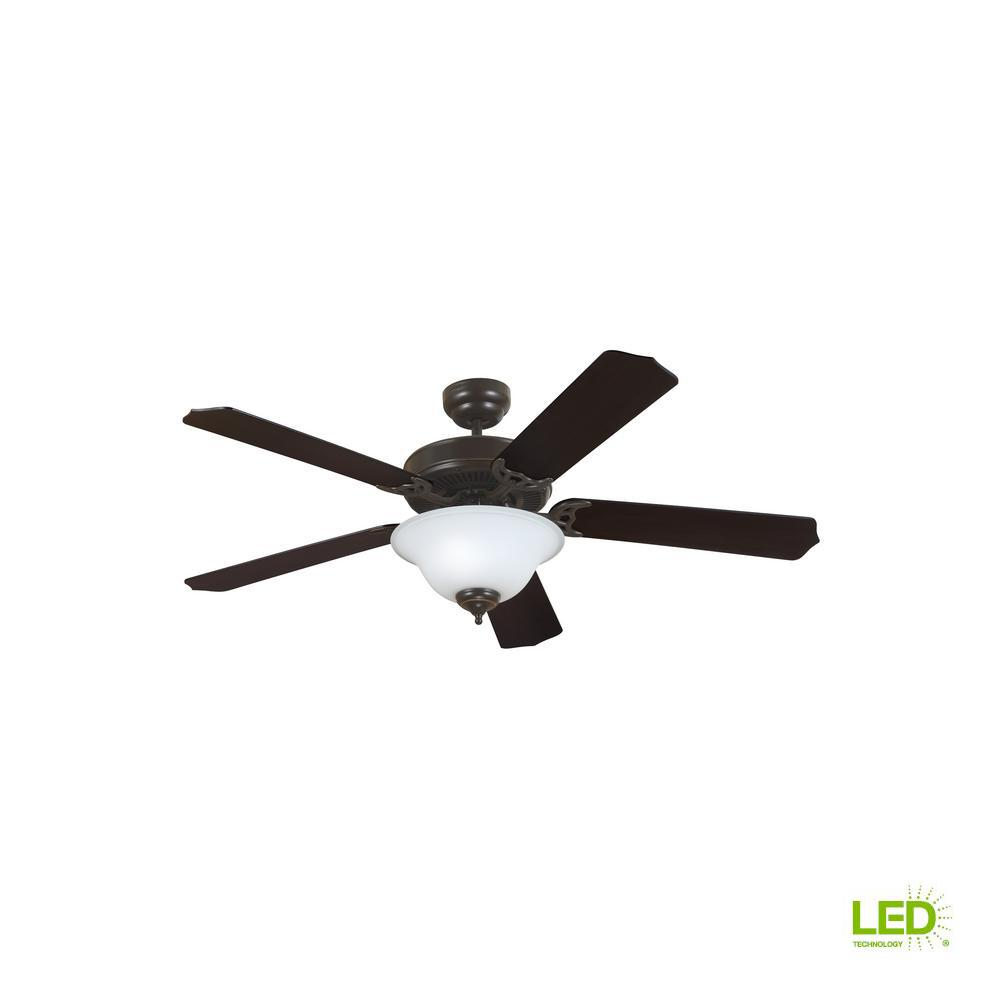 Sea Gull Lighting Quality Max Plus 52 in. LED Indoor Heirloom Bronze Ceiling Fan