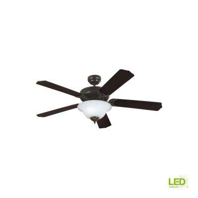 Quality Max Plus 52 in. LED Indoor Heirloom Bronze Ceiling Fan