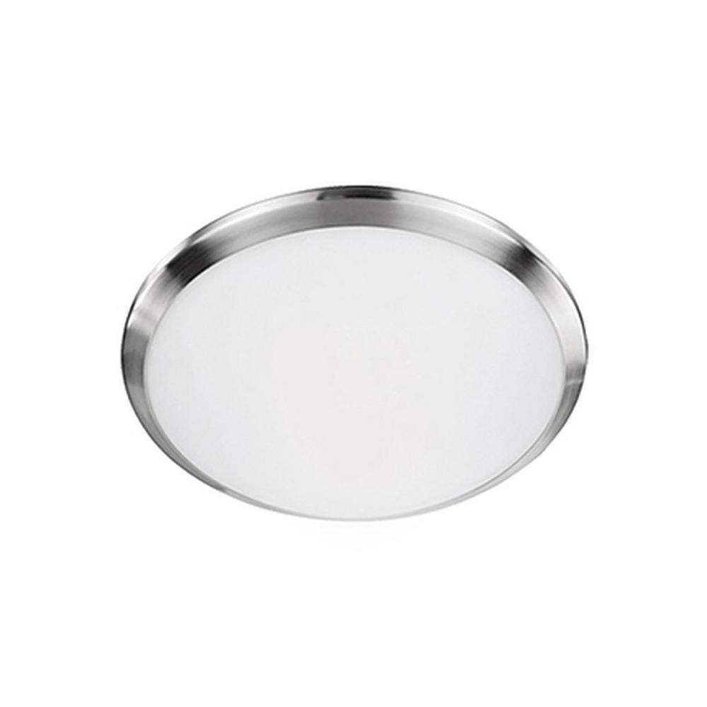 Radionic Hi Tech Arlington Brushed Nickel 40-Watt Equivalence Integrated LED Ceiling Flush Mount