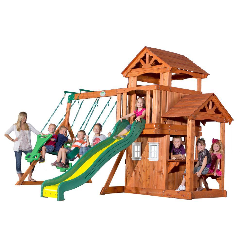 backyard discovery tanglewood all cedar playset 55010com the