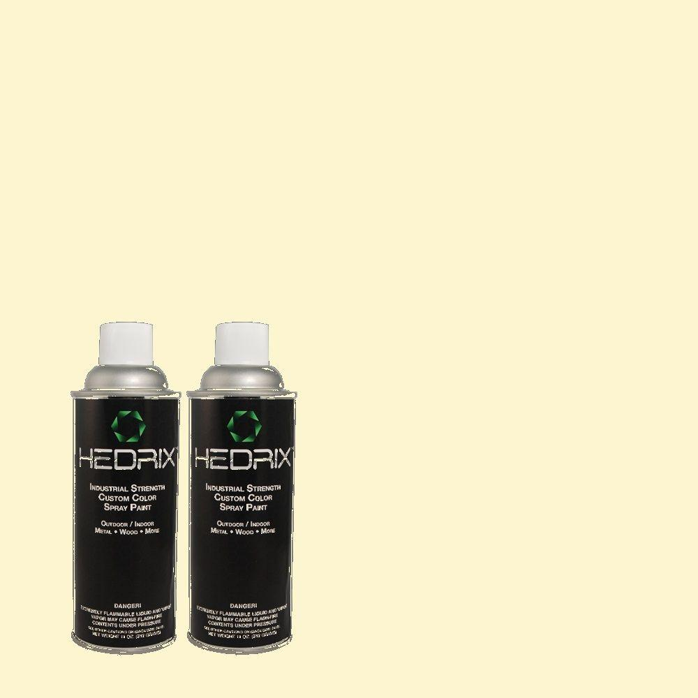 Hedrix 11 oz. Match of 4C1-2 Cream Sateen Flat Custom Spray Paint (2-Pack)