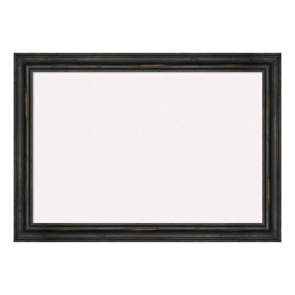 Rustic Pine Narrow Black Framed White Cork Memo Board