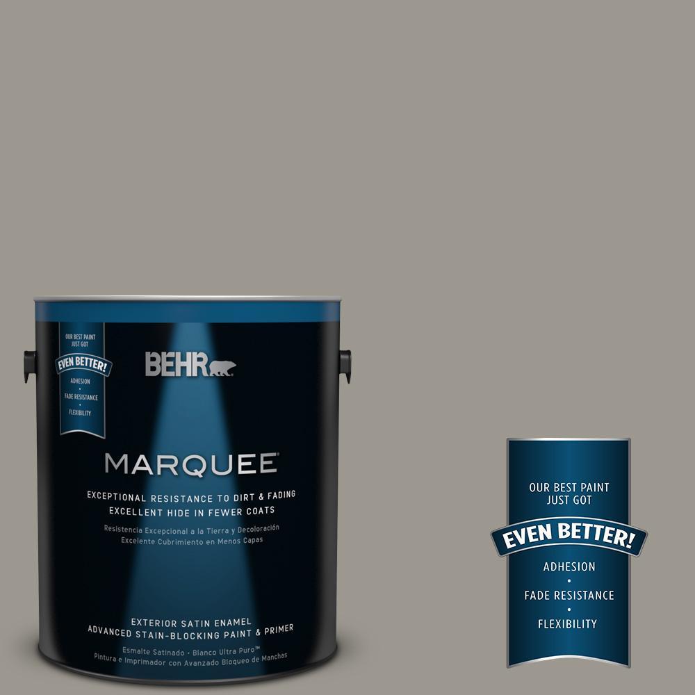 BEHR MARQUEE 1-gal. #MQ2-60 Iron Gate Satin Enamel Exterior Paint ...