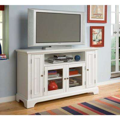 Naples White Entertainment Center