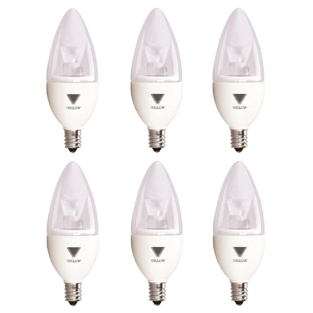 Candelabra Led Bulb: TriGlow 40-Watt Equivalent B11 Dimmable E12 Candelabra LED