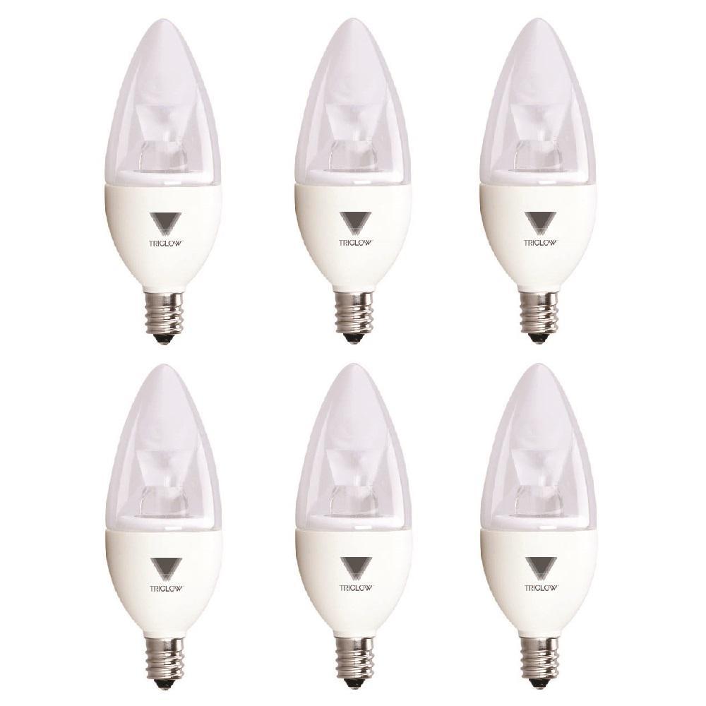 40-Watt Equivalent B11 Dimmable E12 Candelabra LED Light Bulb Cool White 4100K (6-Pack)
