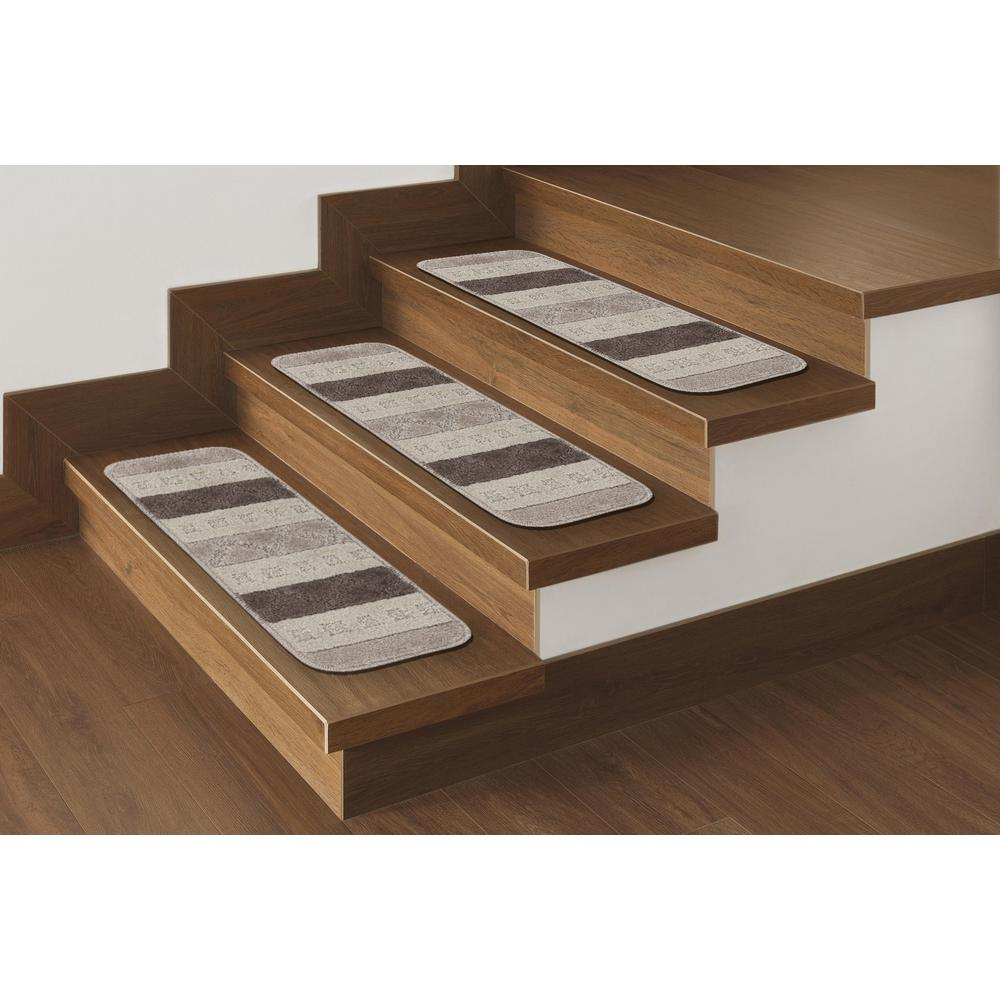 Ottomanson jardin collection contemporary star design for Jardin stair treads