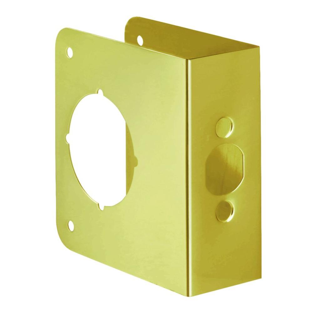 First Watch Security 2-3/4 in. x 1-3/4 in. Solid Brass Door Reinforcer