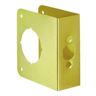 2-3/4 in. x 1-3/4 in. Solid Brass Door Reinforcer