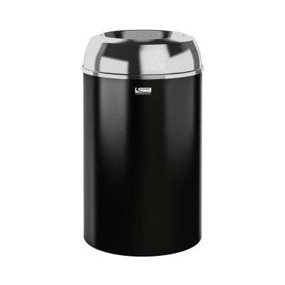 30 Gal. Black Touchless Indoor Trash Can