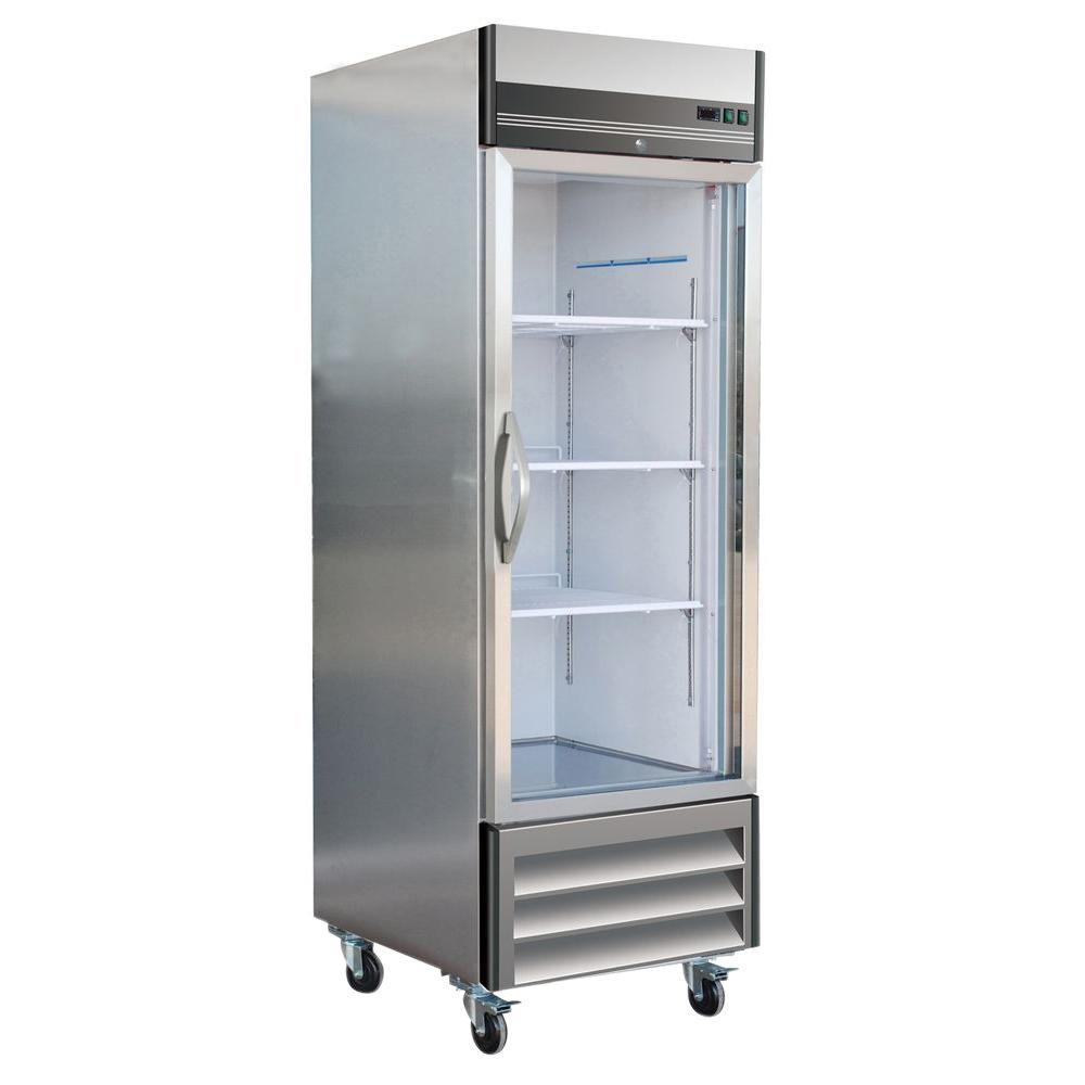 X-Series 23 cu. ft. Single Glass Door Commercial Refrigerator in Stainless