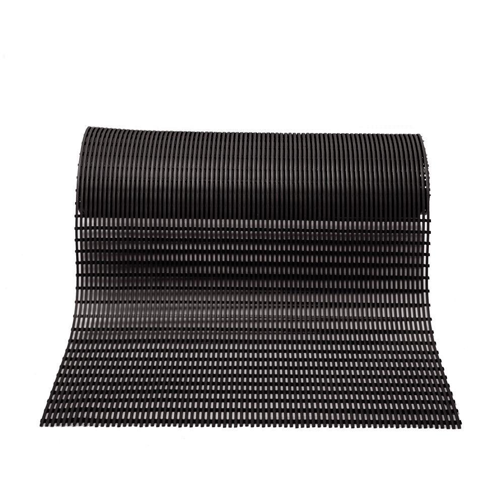 Barepath Black 2 ft. x 30 ft. Rug Runner