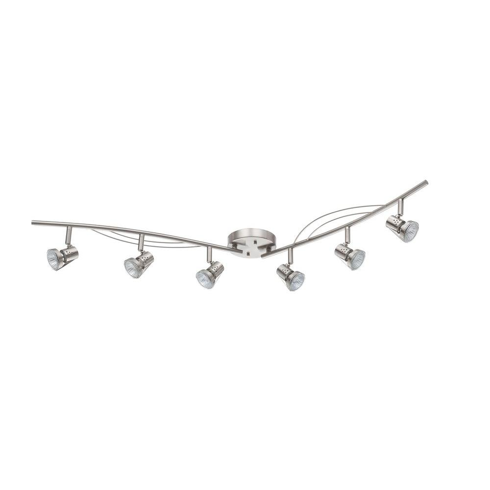 Luminance 4 ft. 6-Light Bright Satin Nickel Track Lighting with Gimbal Heads  sc 1 st  Home Depot & Luminance 4 ft. 6-Light Bright Satin Nickel Track Lighting with ...