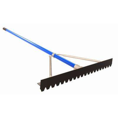 6 ft. Aluminum Handle 30 in. Blunt Tooth Asphalt Lute Rake