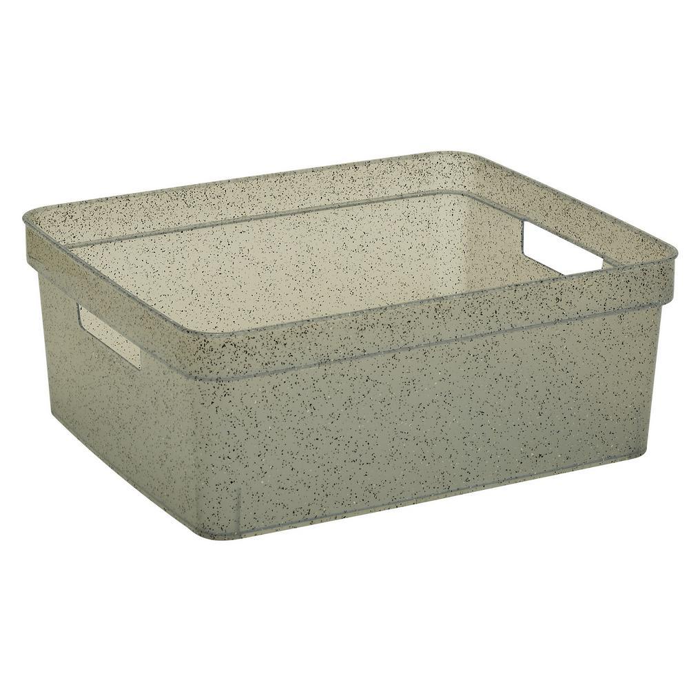 Medium Granite Resin Look Tote
