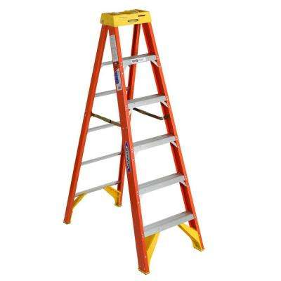 6 ft. Fiberglass Step Ladder 300 lb. Load Capacity Type IA Duty Rating