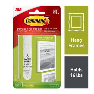 Large Picture Hanging Strips Value Pack  (6 Sets of Strips)