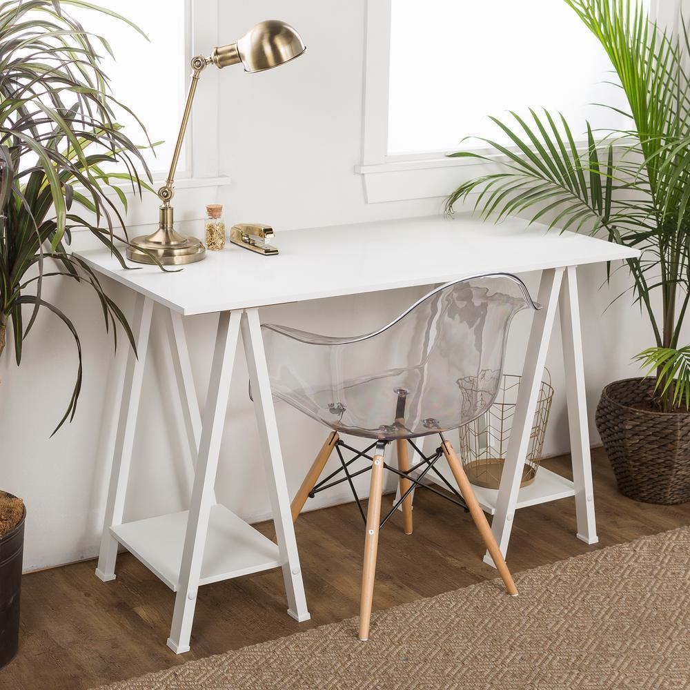Walker Edison Home Office White Desk