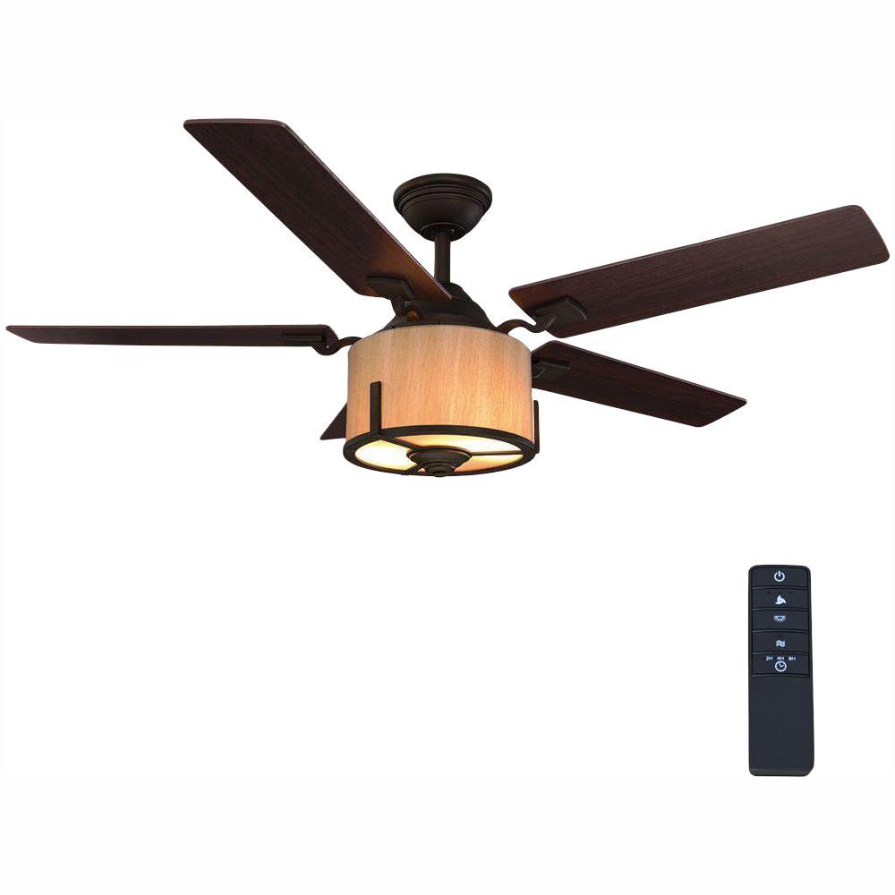 Freyton 52 in. LED Oil Rubbed Bronze Ceiling Fan