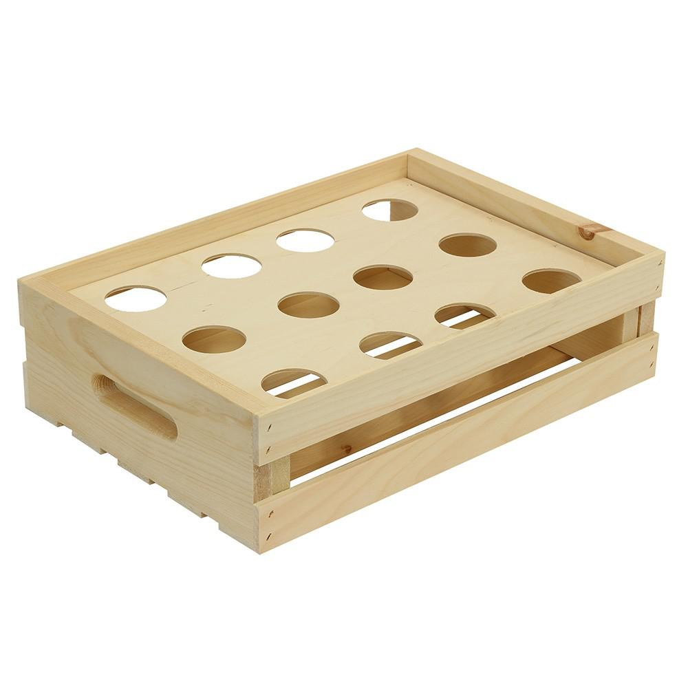 Crates And Pallet Cupcake Wood Crate Divided Insert