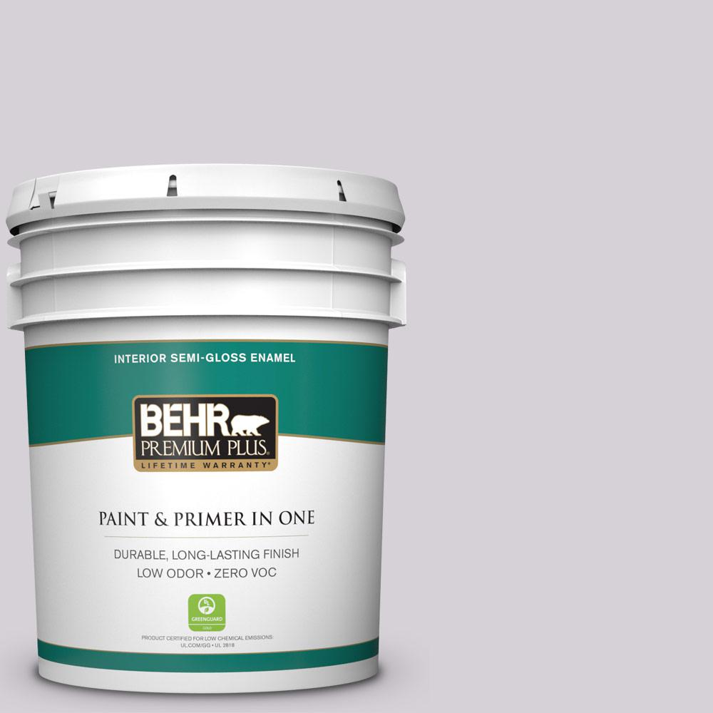 BEHR Premium Plus 5-gal. #670E-3 Lilac Mauve Zero VOC Semi-Gloss Enamel Interior Paint