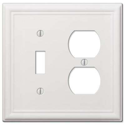 Ascher 1-Toggle and 1-Duplex Wall Plate, White