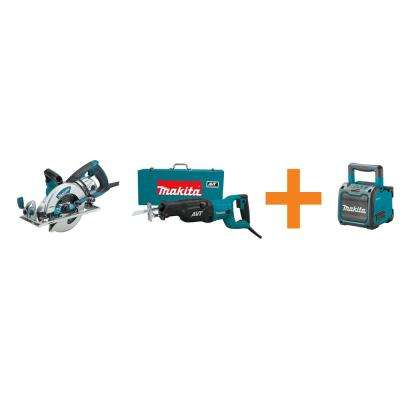 15 Amp 7-1/4 in. Magnesium Hypoid CircSaw and 15 Amp Recip Saw with 18-Volt Lithium-Ion Bluetooth Speaker (Tool Only)