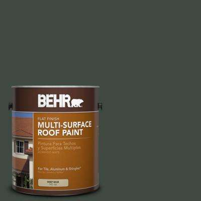 1 gal. #RP-27 Forestglen Flat Multi-Surface Exterior Roof Paint