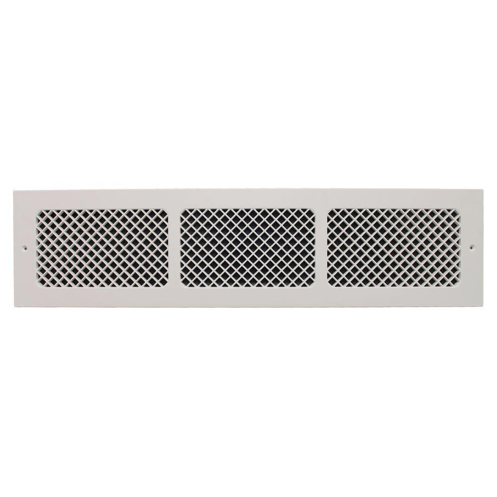 White Return Cold Air Vent 6 X 30 In Ventilation Grille