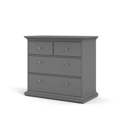 Sonoma 4-Drawer Black Lead Chest of Drawers