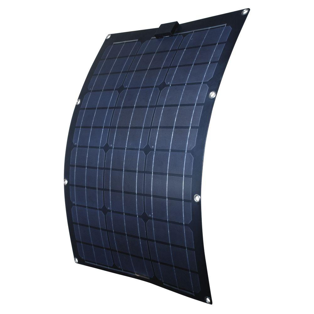 nature power 50 watt semi flex monocrystalline solar panel for 12 volt charging 56703 the home. Black Bedroom Furniture Sets. Home Design Ideas