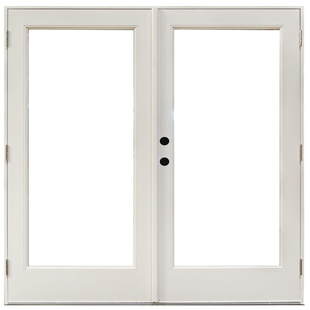 Mp doors 72 in x 80 in fiberglass smooth white right for Fiberglass patio doors