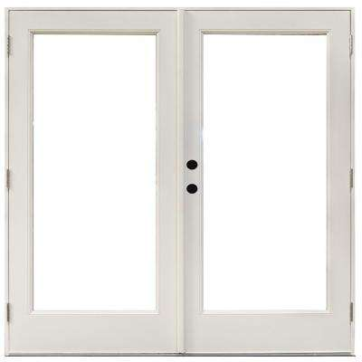 Right handoutswing patio doors exterior doors the home depot fiberglass smooth white right hand outswing hinged patio planetlyrics Gallery