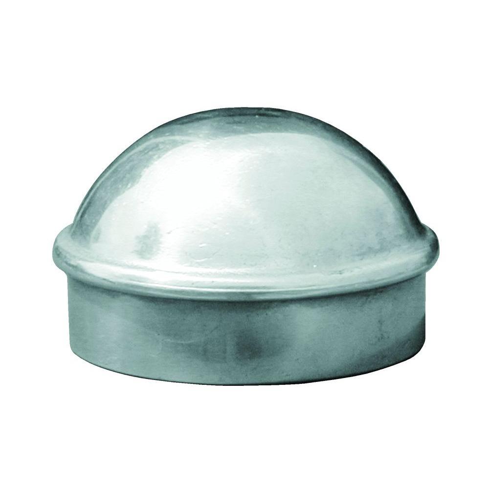 Yardgard 1 5 8 In Galvanized Aluminum Plain Dome Post Cap 328560c The Home Depot