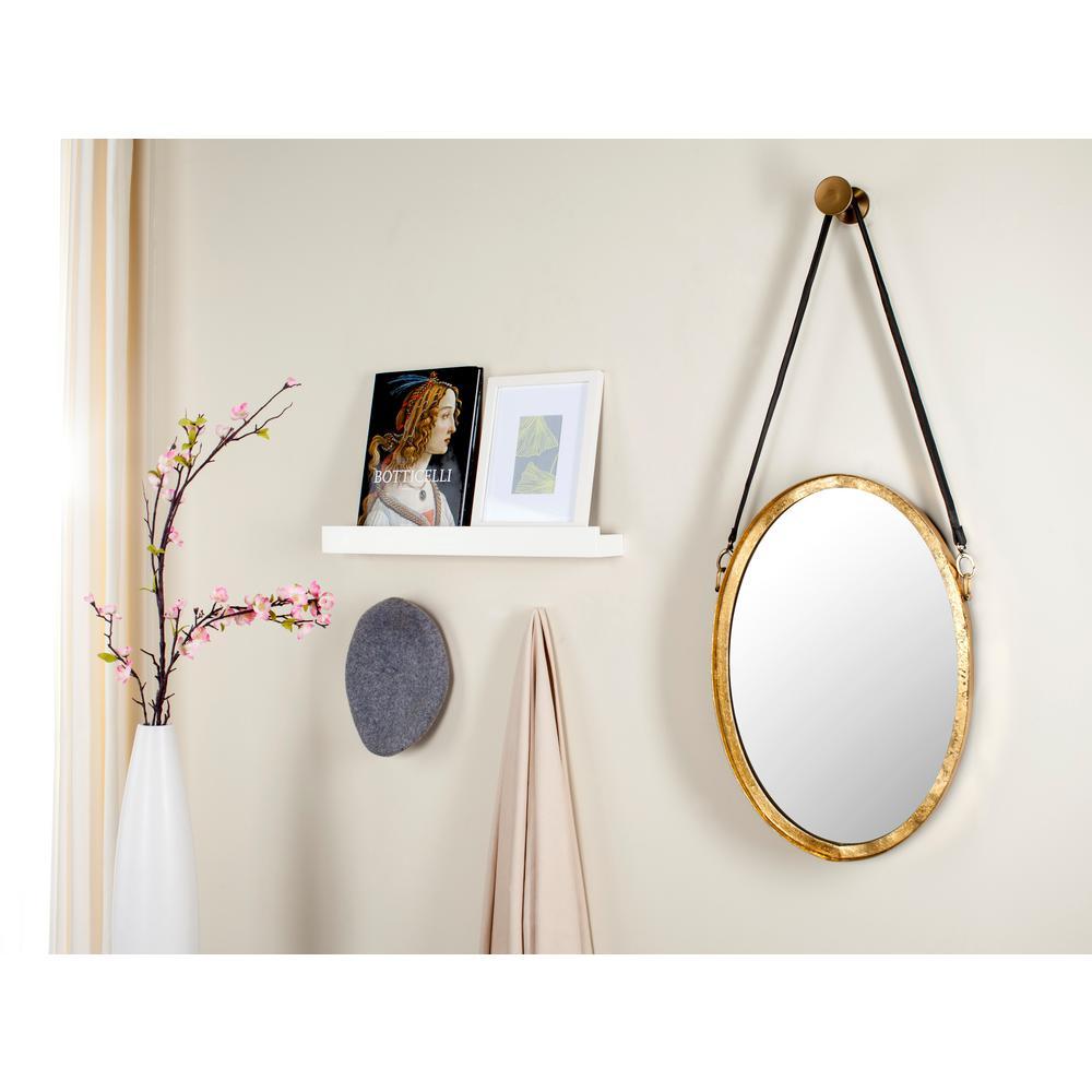Pembroke Oval Antique Gold Strap Decorative Mirror