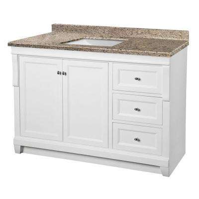 Amazing D Vanity In White With Granite Vanity