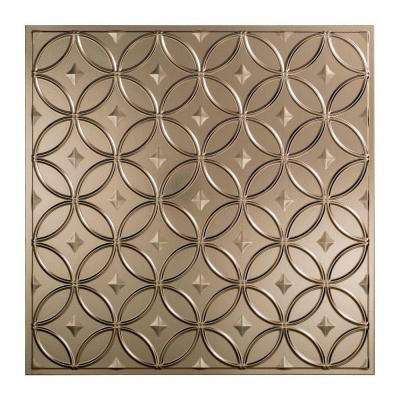 Rings - 2 ft. x 2 ft. Lay-in Ceiling Tile in Brushed Nickel