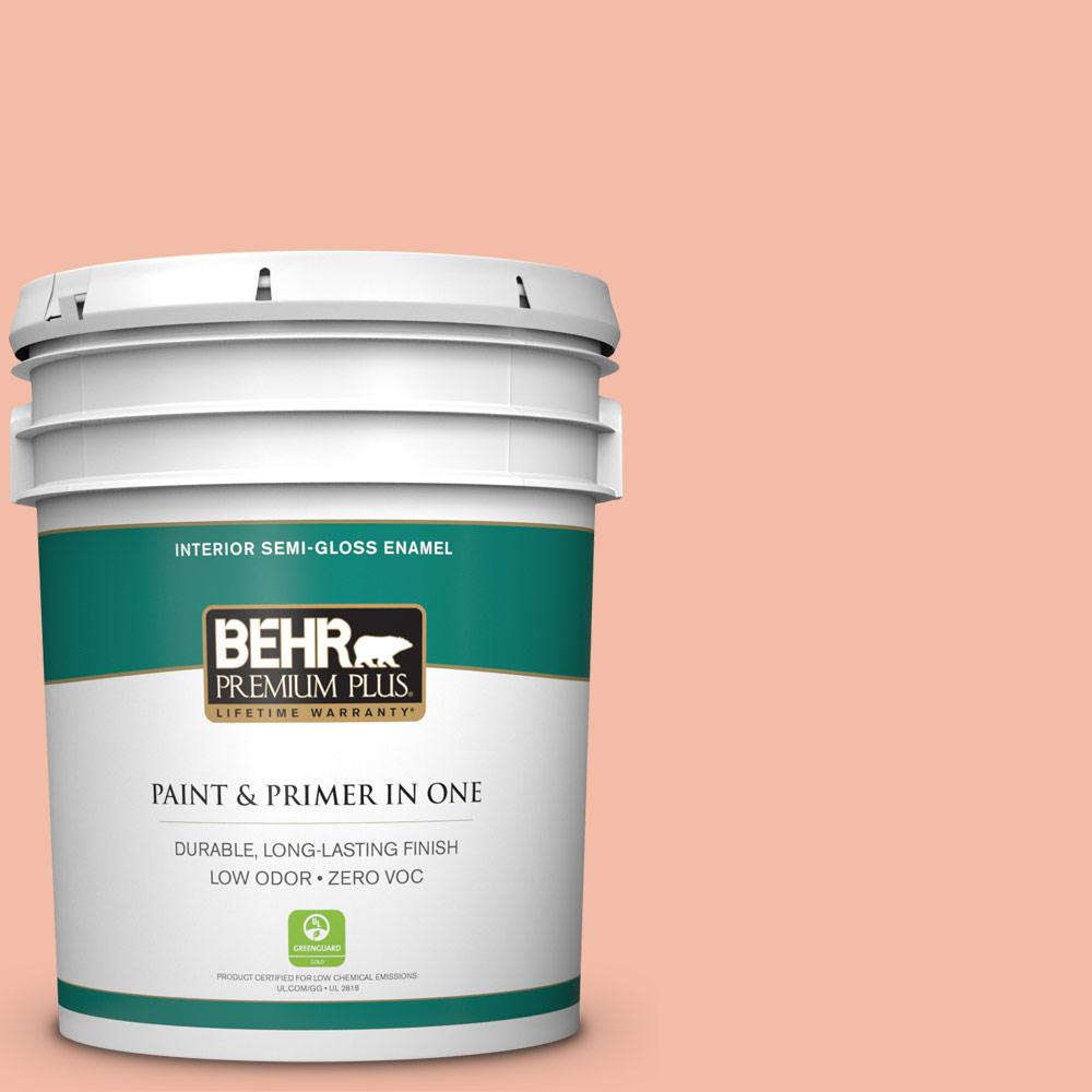 5-gal. #HDC-SP14-4 Heirloom Apricot Zero VOC Semi-Gloss Enamel Interior Paint