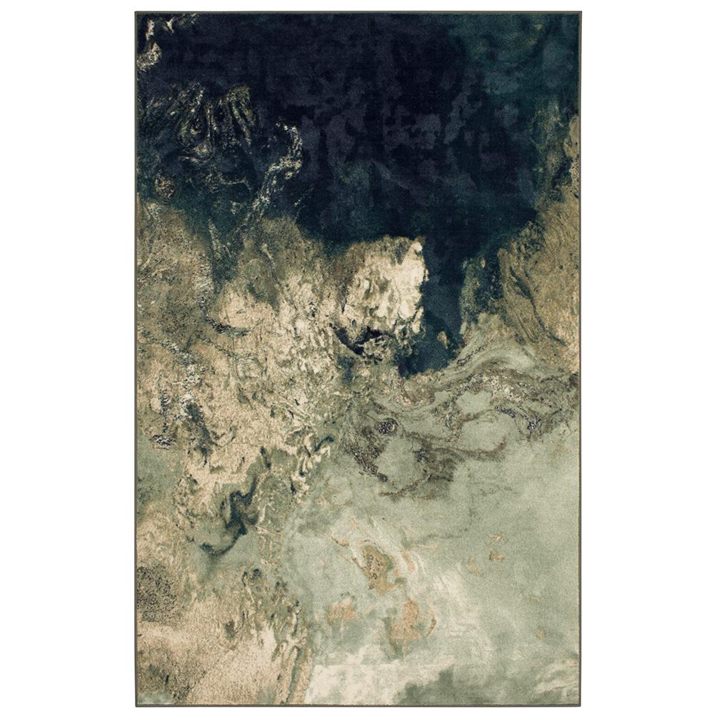 MOHAWKHOME Mohawk Home Marble Ink Seafoam 6 ft. x 9 ft. Area Rug