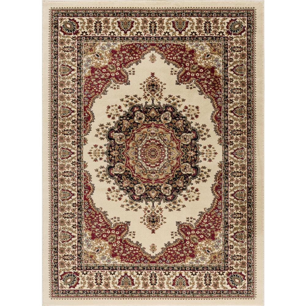 Tayse Rugs Sensation Ivory 8 Ft X 10 Ft Traditional Area