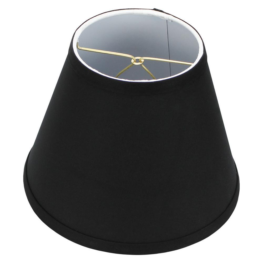 5 in. Top Dia x 9 in. Bottom Dia x 7 in. Slant Linen Black Empire Lamp Shade